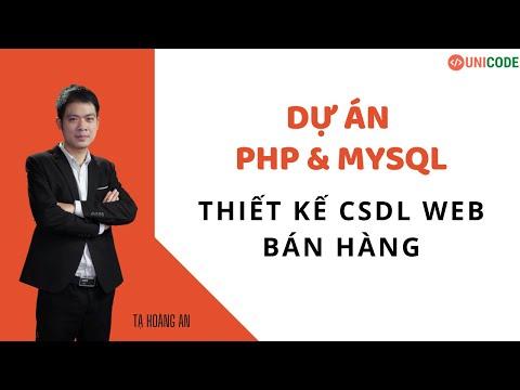 Dự án PHP: Thiết kế CSDL Web Bán Hàng