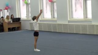Соревнования по акробатике 2013, Артем 7 лет