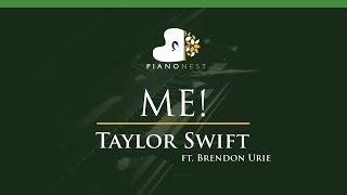 Taylor Swift - ME! feat. Brendon Urie - LOWER Key (Piano Karaoke / Sing Along)