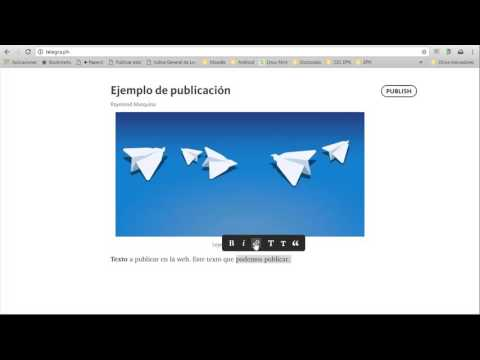 Video tutorial de uso de Telegraph