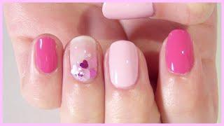 ハートアクアリウム風ネイル♡/heart aquarium nails