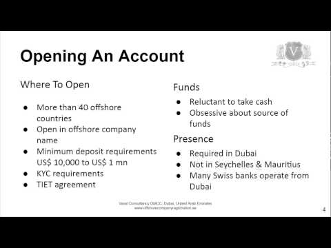 Offshore Bank Account | Be Careful Where You Open It - YouTube