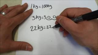 Converting Kilograms To Grams-Math Lesson