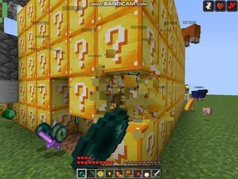 мини куб в майнкрафту нахотки лаки блоков
