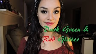 Holiday Glam | Dark green&Red gliter Thumbnail