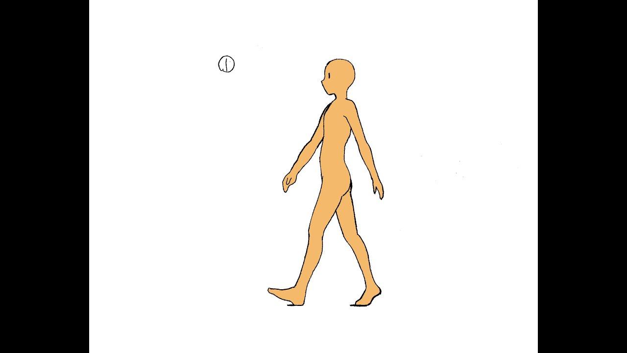 横歩きの作画drawing Of Walking Youtube