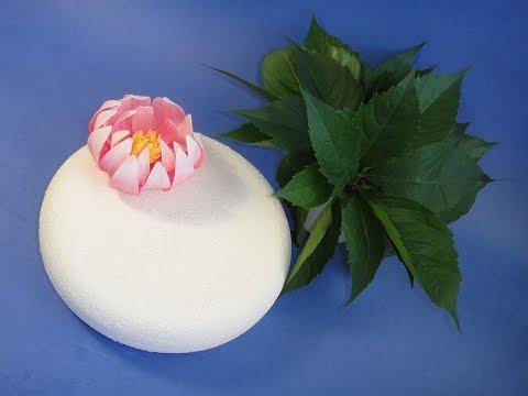 Цветок лотоса (кувшинка).Making a Gumpaste  Water Lily. Gumpaste flowers. Сахарные цветы.