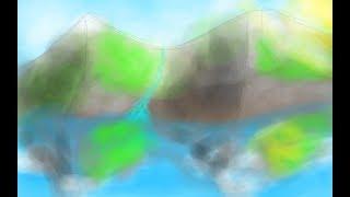 (Speed Paint) Mountain Range