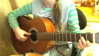 Расцвела под окошком  белоснежная вишня - разбор на гитаре