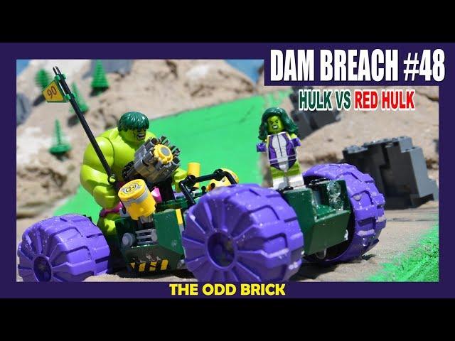 LEGO Dam Breach #48 - Hulk vs Red Hulk (Set 76078)