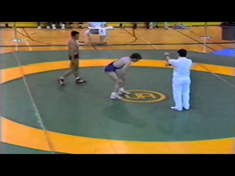 1989 Senior National Championships: 68 kg Chris Wilson vs. Brad Hossack