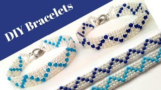 👉🏻Easy bracelets making. 👉🏻Beautiful bracelet design.👉🏻 How to make a bracelet with beads