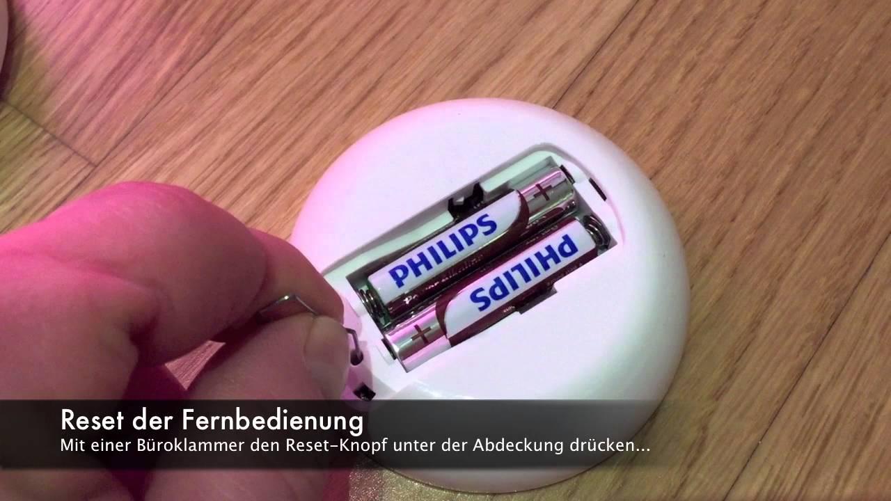 Philips Licht Afstandsbediening : Reset der hue livingcolors fernbedienung youtube