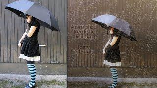 Photoshop CC | Lezzetli Öğreticiler Photoshop Eğitimi | Gerçekçi Animasyonlu Yağmur Eylem