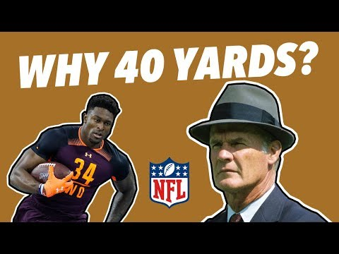 The NFL COMBINE wasn't always a THING...and Why is it a 40 YARD DASH?