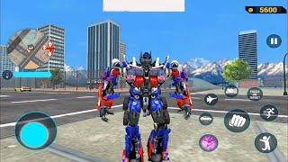 optimus prime Multiple Transformation Jet Robot Car Game 2020   Android Gameplay #3