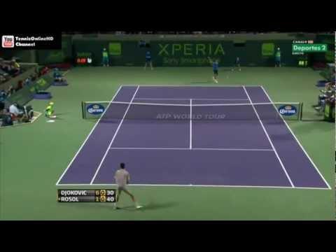Novak Djokovic vs Lukas Rosol- Masters Miami 2013 Highlights (R2) HD
