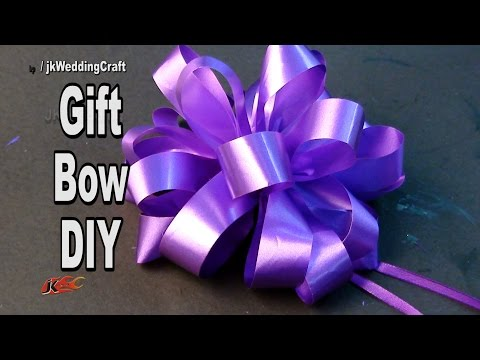 DIY Easy Bow for a gift hamper and Trousseau | How to make | JK Wedding Craft  106