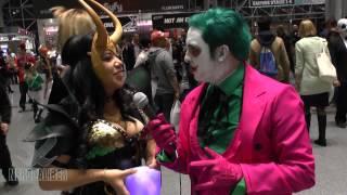 loki and joker have the tesseract new york comic con cosplay 2014