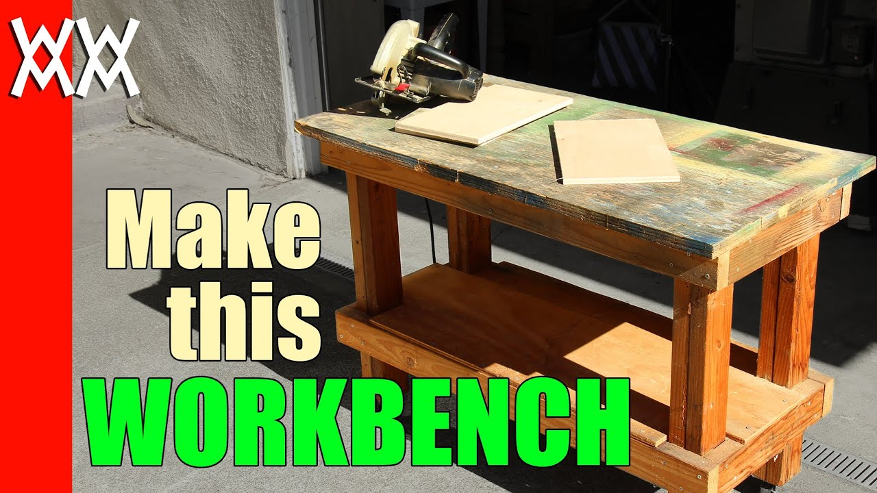 Build A Cheap But Sturdy Workbench In A Day Using 2x4s And