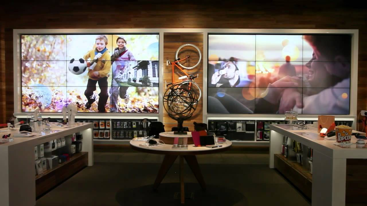 At T Michigan Avenue Flagship Store Chicago Digital Wall Experience Youtube