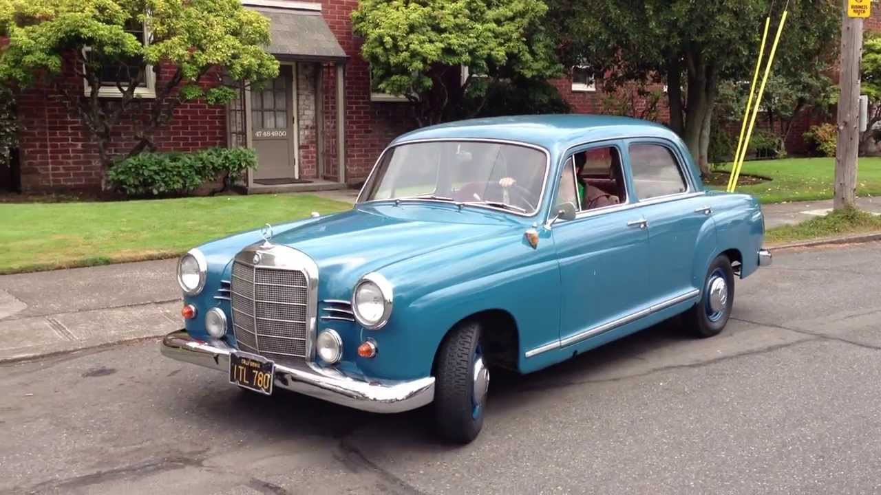 1960 Mercedes Benz 190b Engine Youtube