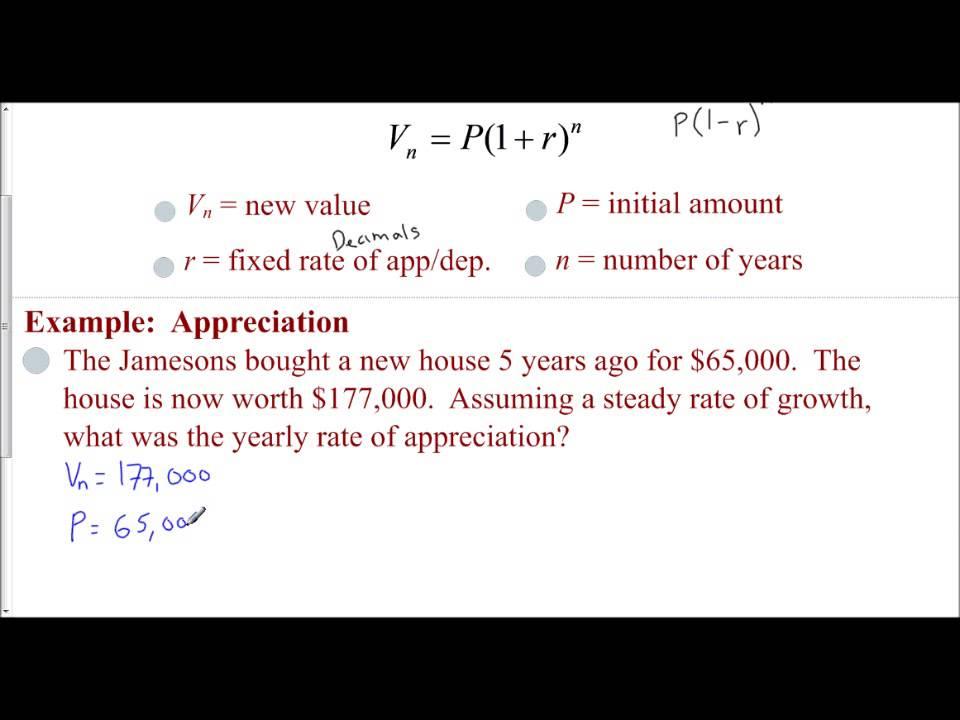 lesson 8 8 - appreciation and depreciation