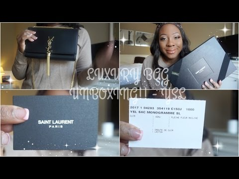Yves Saint Laurent PARIS - Luxury Bag Unboxing! - Avenue Montaigne
