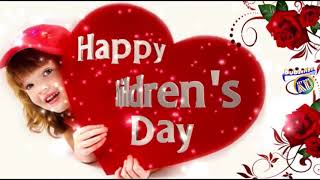 Happy children Day and good morning video