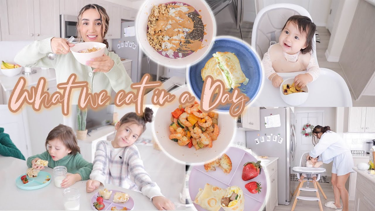WHAT WE EAT IN A DAY   FAMILY OF 5 - YouTube