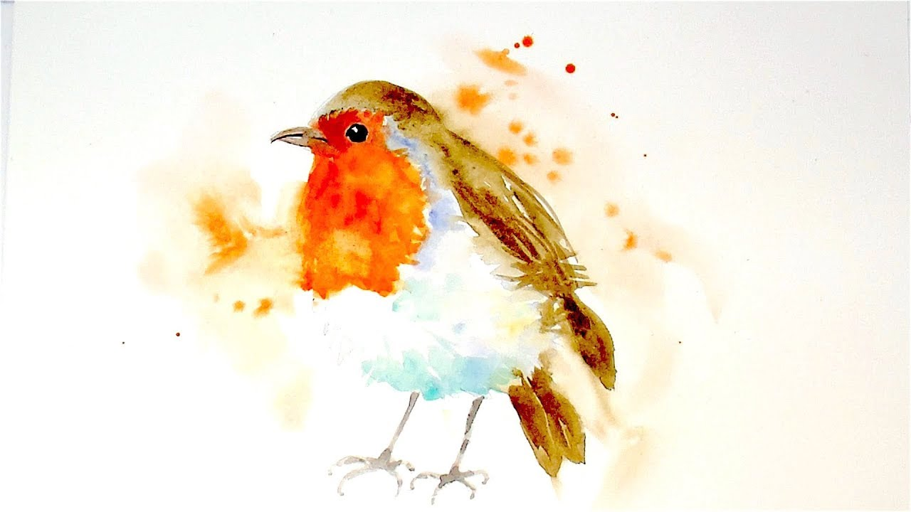 """Paint And Colour """"A Robin"""" - A Watercolour Speed Painting ..."""