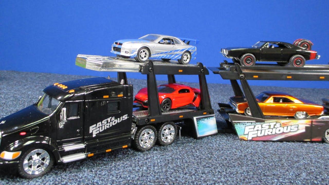 Fast Furious Peterbilt Model Hauler And Car Carrier From