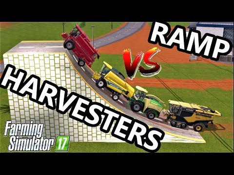 Farming Simulator 17 : MODIFY HARVESTERS vs RAMP