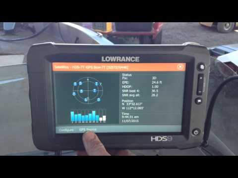 How to set 2 Lowrance Gen2 Touch units to use seperate GPS sources from Performance Marine AZ