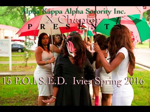 Alpha Kappa Alpha // Chi Chapter// 15 P.O.I.S.E.D. Ivies Spring 2016