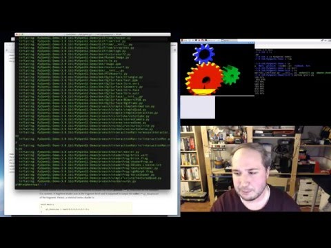 Raspberry Pi & Python OpenGL Fun with Tony D! @adafruit #LIVE