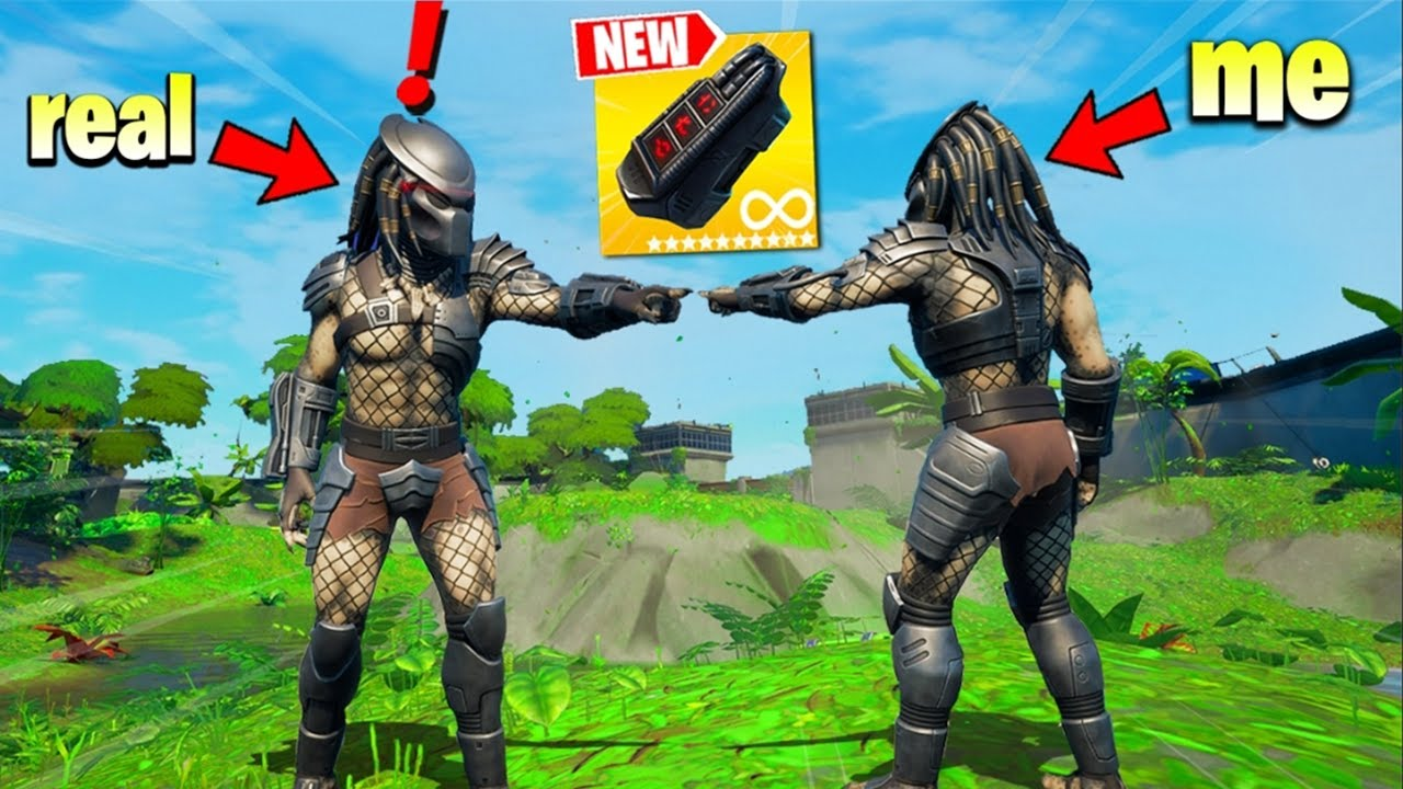 I Pretended to be PREDATOR BOSS in Fortnite