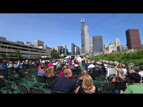 Chicago Architecture Foundation River Cruise Time lapse 4K - SONY FDR-X3000