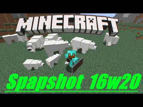 Minecraft 1.10 Snapshot: Polar Bear & Cubs, Husk Zombie, Stray Skeleton, Bone Fossils, Magma Blocks