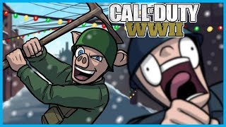 Call of Duty: World War II Funny Moments! - Winter Siege Update, Ice Pick Killcam, Trench Knife!