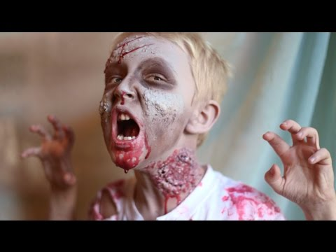 How To Make Kid Zombie Costume And Makeup Diy Latex