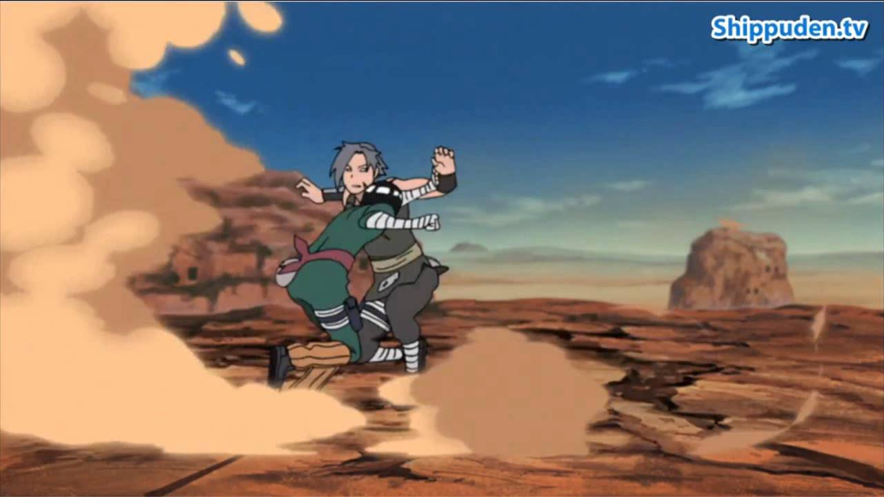 REVIEW ROCK LEE VS SHIRA Naruto Shippuden 401 impresionante Batalla - YouTube