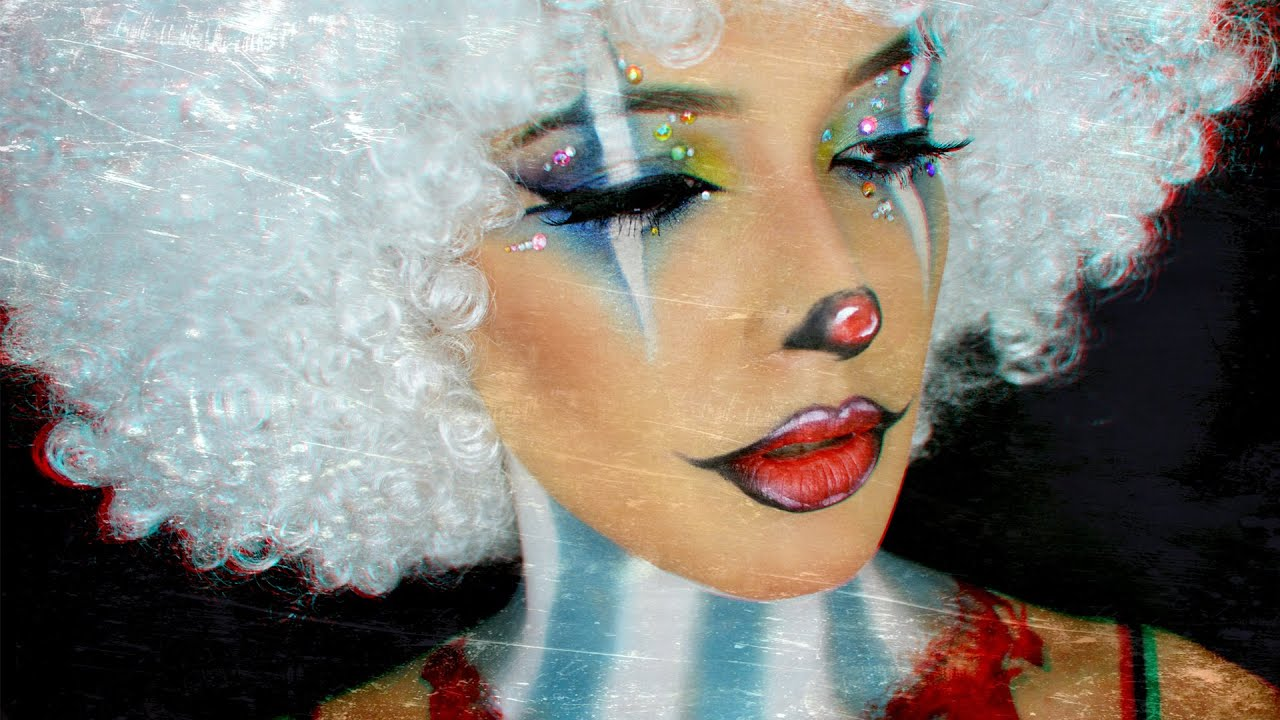 Maquillage halloween clown fantaisiste effrayant creepy colorful clown youtube - Maquillage de clown facile ...