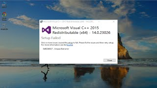 How to Fix Microsoft Visual C++ 2015 Redistributable Setup Failed error 0x80240017