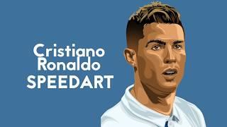 Cristiano Ronaldo speedart vector