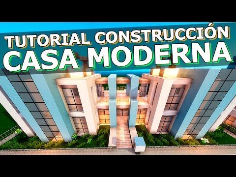 Tutorial casa moderna retro con ascensor minecraft for Casa moderna facil minecraft tutorial