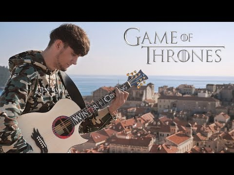 Game of Thrones Theme played on Guitar in King&39;s Landing