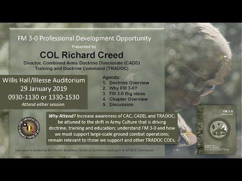 FM 3-0 Operations, Professional Development Opportunity - 29 January 2019