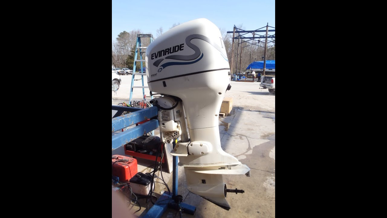 6M3393 Used 1998 Evinrude E175FPXEEN 175HP Ficht 2-Stroke Outboard Boat  Motor 25