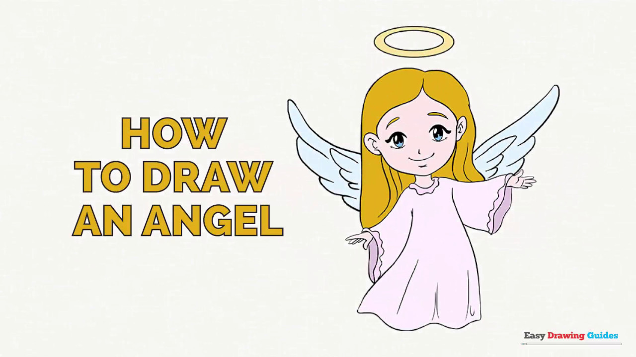Uncategorized Easy To Draw Angels how to draw an angel in a few easy steps drawing tutorial for kids and beginners